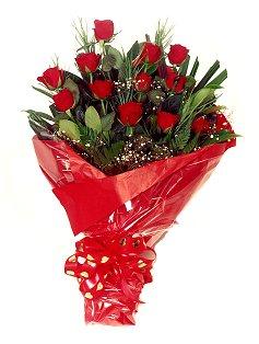 12 adet kirmizi gül buketi  Eskişehir çiçekçiler