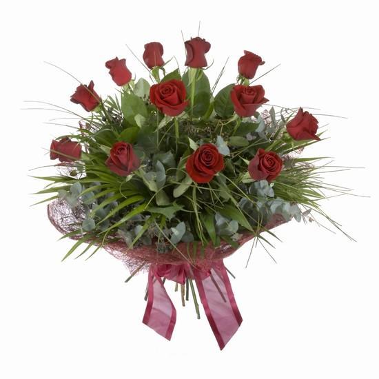 Etkileyici buket 11 adet kirmizi gül buketi  Eskişehir internetten çiçek satışı