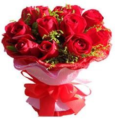 9 adet kirmizi güllerden kipkirmizi buket  Eskişehir çiçekçiler
