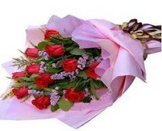 11 adet kirmizi güllerden görsel buket  Eskişehir çiçek gönderme sitemiz güvenlidir