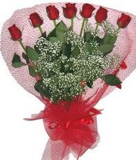 7 adet kipkirmizi gülden görsel buket  Eskişehir çiçek mağazası , çiçekçi adresleri
