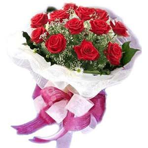Eskişehir çiçek satışı  11 adet kırmızı güllerden buket modeli
