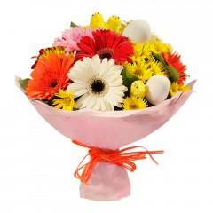 Karışık mevsim buketi Mevsimsel çiçek  Eskişehir internetten çiçek siparişi
