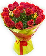 19 Adet kırmızı gül buketi  Eskişehir çiçek siparişi vermek