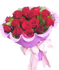 12 adet kırmızı gülden görsel buket  Eskişehir çiçekçi mağazası