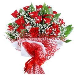 11 kırmızı gülden buket  Eskişehir 14 şubat sevgililer günü çiçek