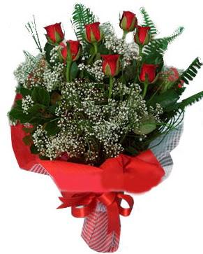 7 kırmızı gül buketi  Eskişehir çiçek servisi , çiçekçi adresleri