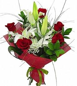 1 dal kazablanka 5 kırmızı gül buketi  Eskişehir kaliteli taze ve ucuz çiçekler