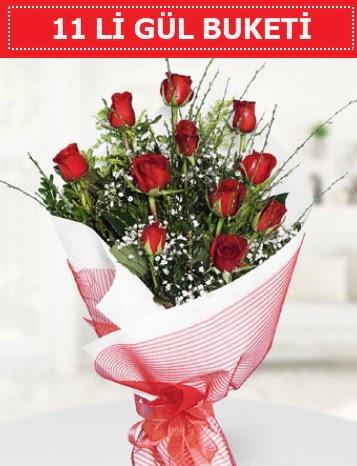 11 adet kırmızı gül buketi Aşk budur  Eskişehir çiçek gönderme sitemiz güvenlidir
