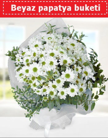 Beyaz Papatya Buketi  Eskişehir 14 şubat sevgililer günü çiçek