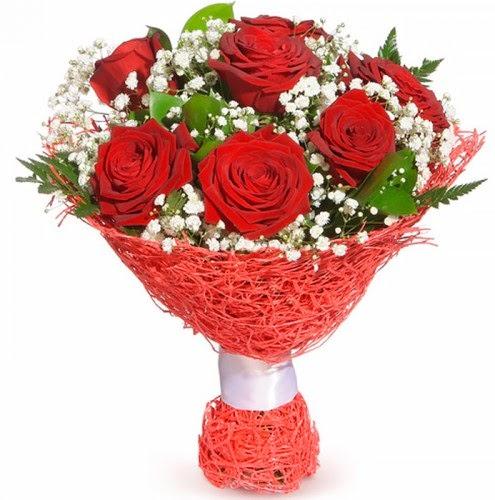 7 adet kırmızı gül buketi  Eskişehir çiçekçiler