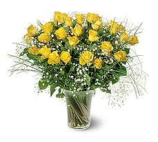 Eskişehir çiçek siparişi sitesi  15 adet sarigül mika yada cam vazoda