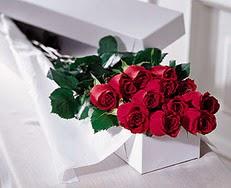 Eskişehir çiçek satışı  özel kutuda 12 adet gül