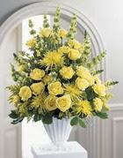 Eskişehir çiçek siparişi sitesi  sari güllerden sebboy tanzim çiçek siparisi