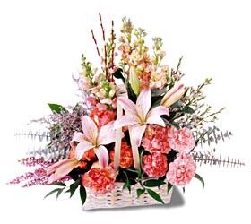 Eskişehir çiçek siparişi sitesi  mevsim çiçekleri sepeti özel tanzim