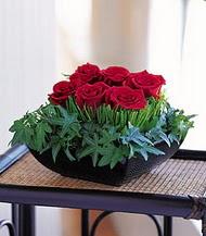 Eskişehir çiçek siparişi sitesi  10 adet kare mika yada cam vazoda gül tanzim