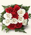 Eskişehir çiçek , çiçekçi , çiçekçilik  10 adet kirmizi beyaz güller - anneler günü için ideal seçimdir -