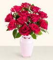 Eskişehir hediye çiçek yolla  10 kirmizi gül cam yada mika vazo tanzim
