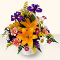 Eskişehir 14 şubat sevgililer günü çiçek  sepet içinde karisik çiçekler