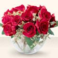 Eskişehir çiçek online çiçek siparişi  mika yada cam içerisinde 10 gül - sevenler için ideal seçim -