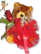 oyuncak ayi ve gül tanzim  Eskişehir çiçekçiler