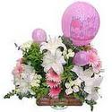 balon ve çiçeklerle tanzim  Eskişehir internetten çiçek satışı