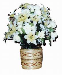 yapay karisik çiçek sepeti   Eskişehir çiçek mağazası , çiçekçi adresleri