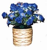 yapay mavi çiçek sepeti  Eskişehir cicekciler , cicek siparisi