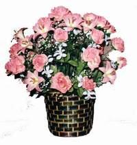 yapay karisik çiçek sepeti  Eskişehir çiçek online çiçek siparişi