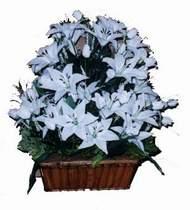 yapay karisik çiçek sepeti   Eskişehir online çiçek gönderme sipariş