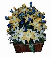 yapay karisik çiçek sepeti   Eskişehir çiçek gönderme