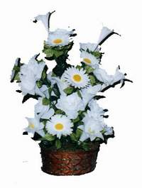 yapay karisik çiçek sepeti  Eskişehir çiçek siparişi vermek