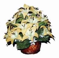 yapay karisik çiçek sepeti   Eskişehir çiçek siparişi sitesi