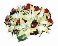 yapay karisik çiçek sepeti   Eskişehir internetten çiçek siparişi