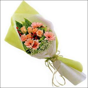 sade güllü buket demeti  Eskişehir çiçekçi mağazası