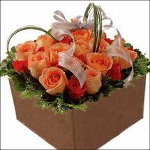 kare sandikta 11 gülllerden   Eskişehir çiçekçi mağazası