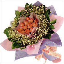 11  adet  gül ve   elyaflar   Eskişehir çiçekçi mağazası
