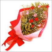 12 adet renkli  gül buketi   Eskişehir çiçekçi mağazası