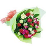 12 adet renkli gül buketi   Eskişehir çiçek gönderme sitemiz güvenlidir