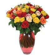 51 adet gül ve kaliteli vazo   Eskişehir çiçek gönderme sitemiz güvenlidir