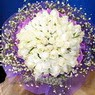71 adet beyaz gül buketi   Eskişehir çiçek , çiçekçi , çiçekçilik