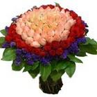 71 adet renkli gül buketi   Eskişehir ucuz çiçek gönder