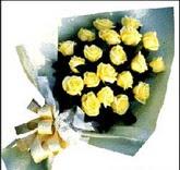 sari güllerden sade buket  Eskişehir çiçek , çiçekçi , çiçekçilik