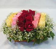 15 adet reprenkli gül sepeti   Eskişehir çiçek yolla