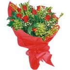 10 adet kirmizi gül buketi  Eskişehir çiçek yolla