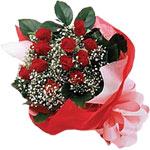 Eskişehir internetten çiçek satışı  KIRMIZI AMBALAJ BUKETINDE 12 ADET GÜL