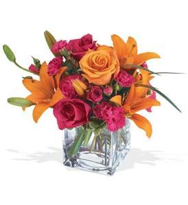 Eskişehir çiçek mağazası , çiçekçi adresleri  cam içerisinde kir çiçekleri demeti