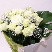 Eskişehir hediye çiçek yolla  11 adet sade beyaz gül buketi
