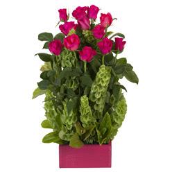 12 adet kirmizi gül aranjmani  Eskişehir çiçek mağazası , çiçekçi adresleri