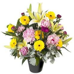 karisik mevsim çiçeklerinden vazo tanzimi  Eskişehir uluslararası çiçek gönderme